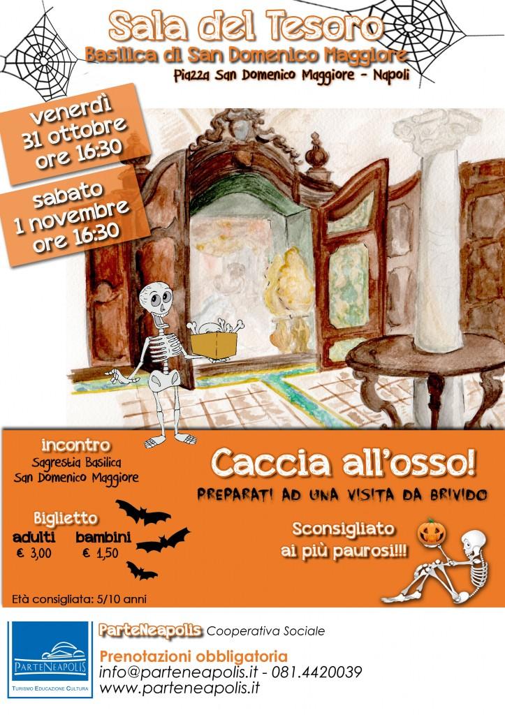 Locandina Caccia all'osso - Halloween 2014 - Sala