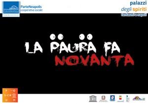 banner La Paura fa Novanta con loghi