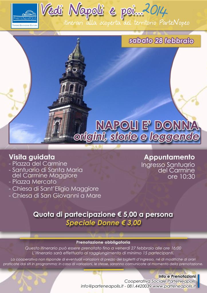 Napoli è donna - arte, storia e leggende - 28.02.2015